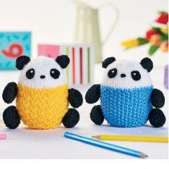 Panda Trio Knitting Pattern