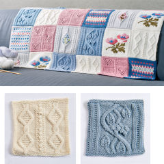 Debbie Bliss Primavera Blanket Pattern Part 3