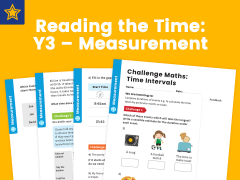 Reading the Time Year three Measurement Maths Challenge