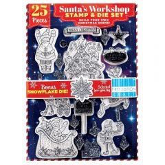 Santa's Workshop Stamp & First Edition Die Set