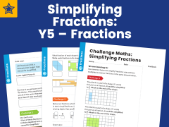 Simplifying Fractions: Y5 – Fractions – Maths Challenge