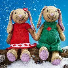 Sparkle & Star Christmas Bunnies Knit Kit