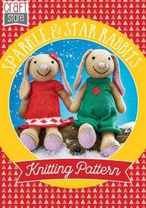 Sparkle and Star Bunnies Physical Knitting Pattern