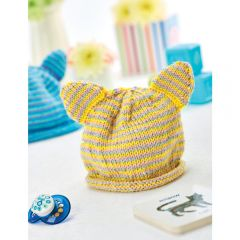 Stripy Animal Hats Knitting Pattern