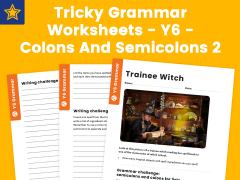 Tricky Grammar Worksheets – Y6 – Colons And Semicolons 2