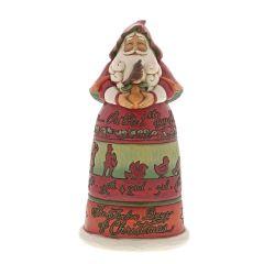 Twelve Days of Christmas Santa Figurine