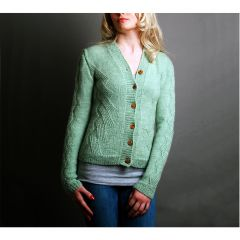 Vintage Style Cardigan with Twisted Stitches Knitting Pattern
