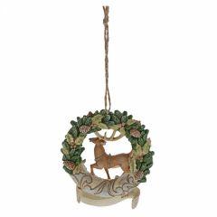 Woodland 2019 Deer Wreath (Hanging Ornament)
